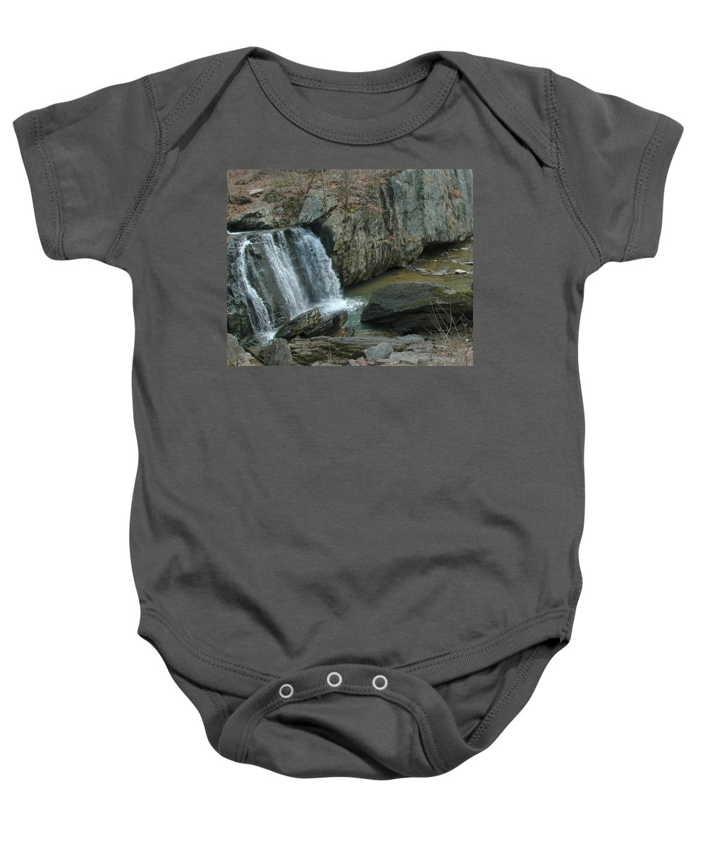 Nature Baby Onesie featuring the photograph Turtle In The Rocks by Tom Leach