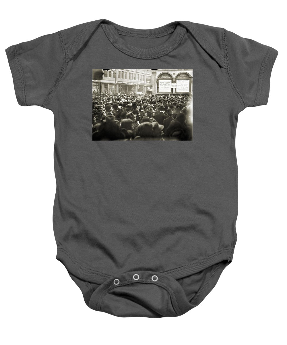 1911 Baby Onesie featuring the photograph World Series, 1911 by Granger