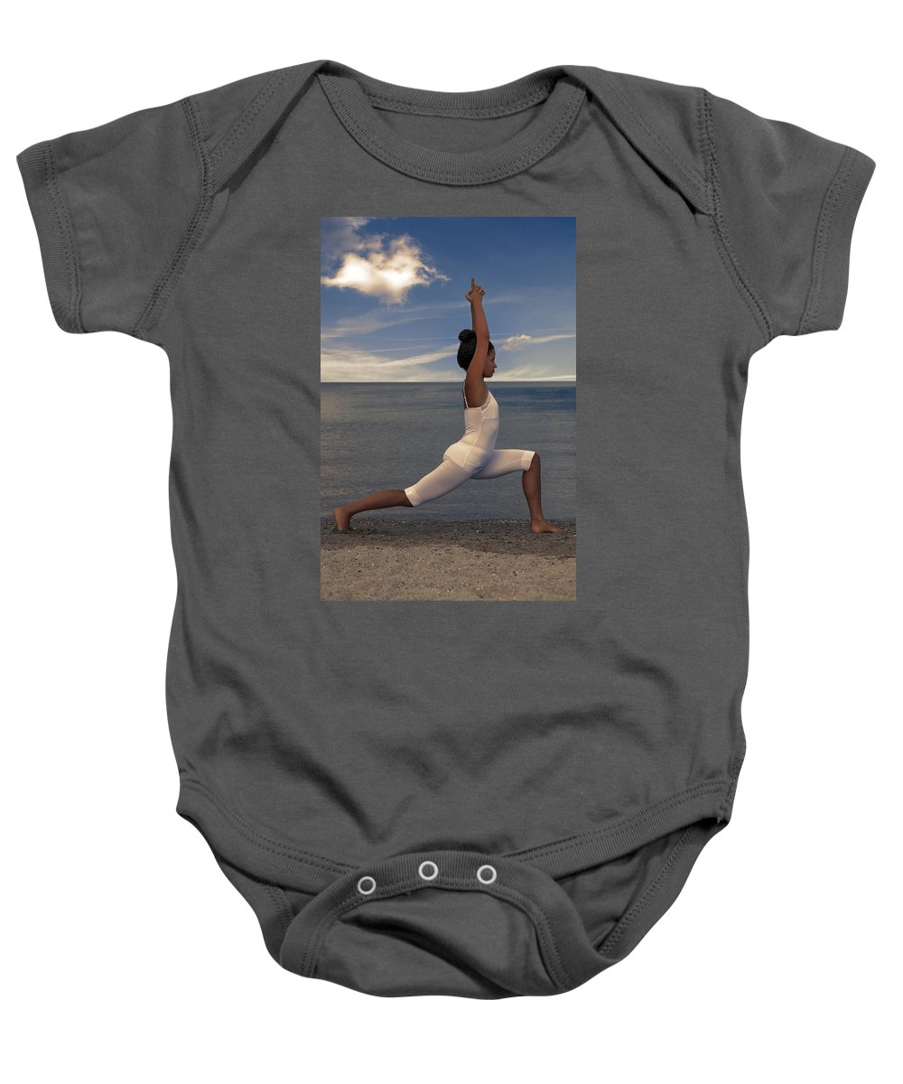 Female Baby Onesie featuring the photograph Yoga by Joana Kruse