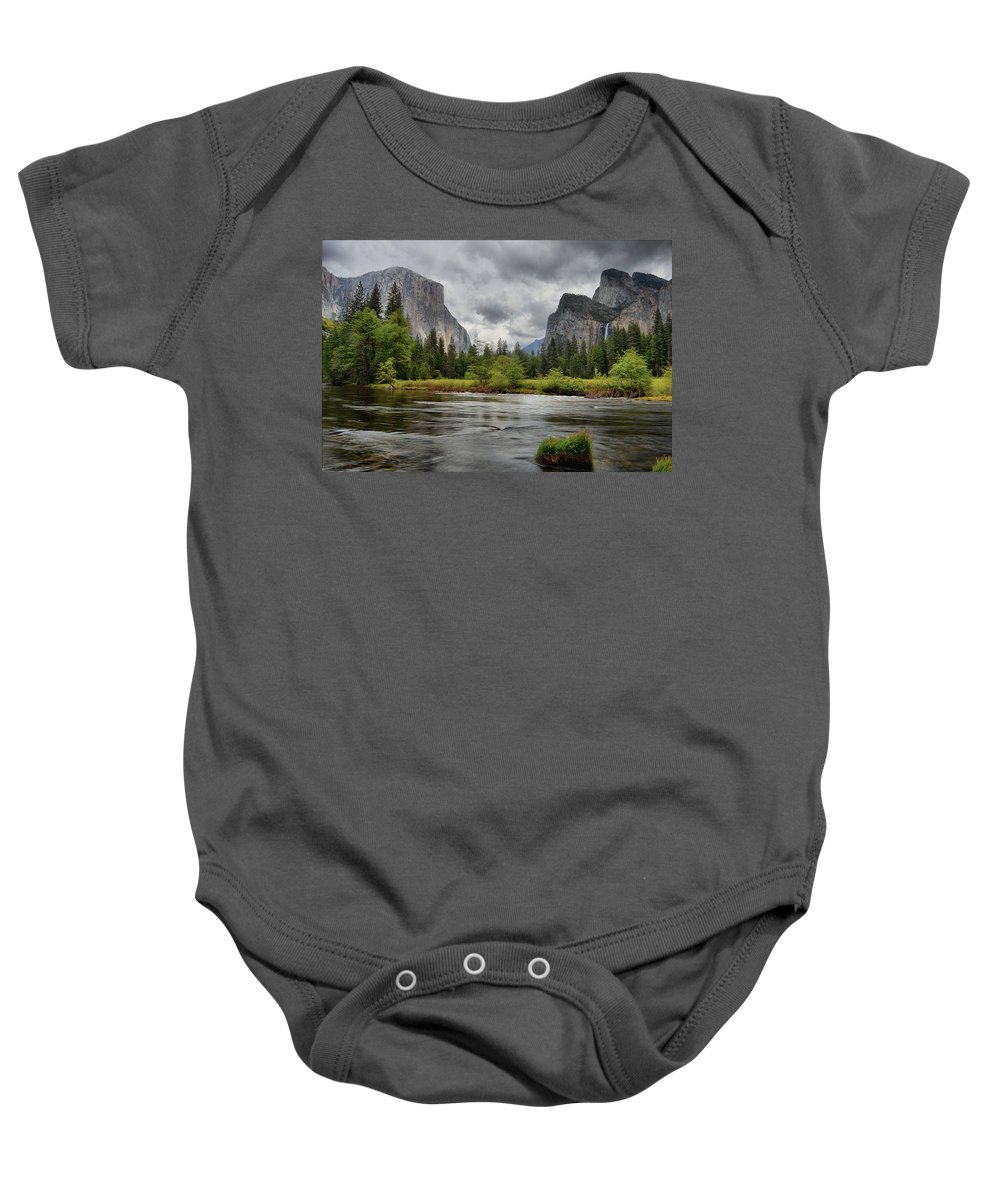 Yosemite Baby Onesie featuring the photograph Yosemite's Valley View by Lynn Bauer