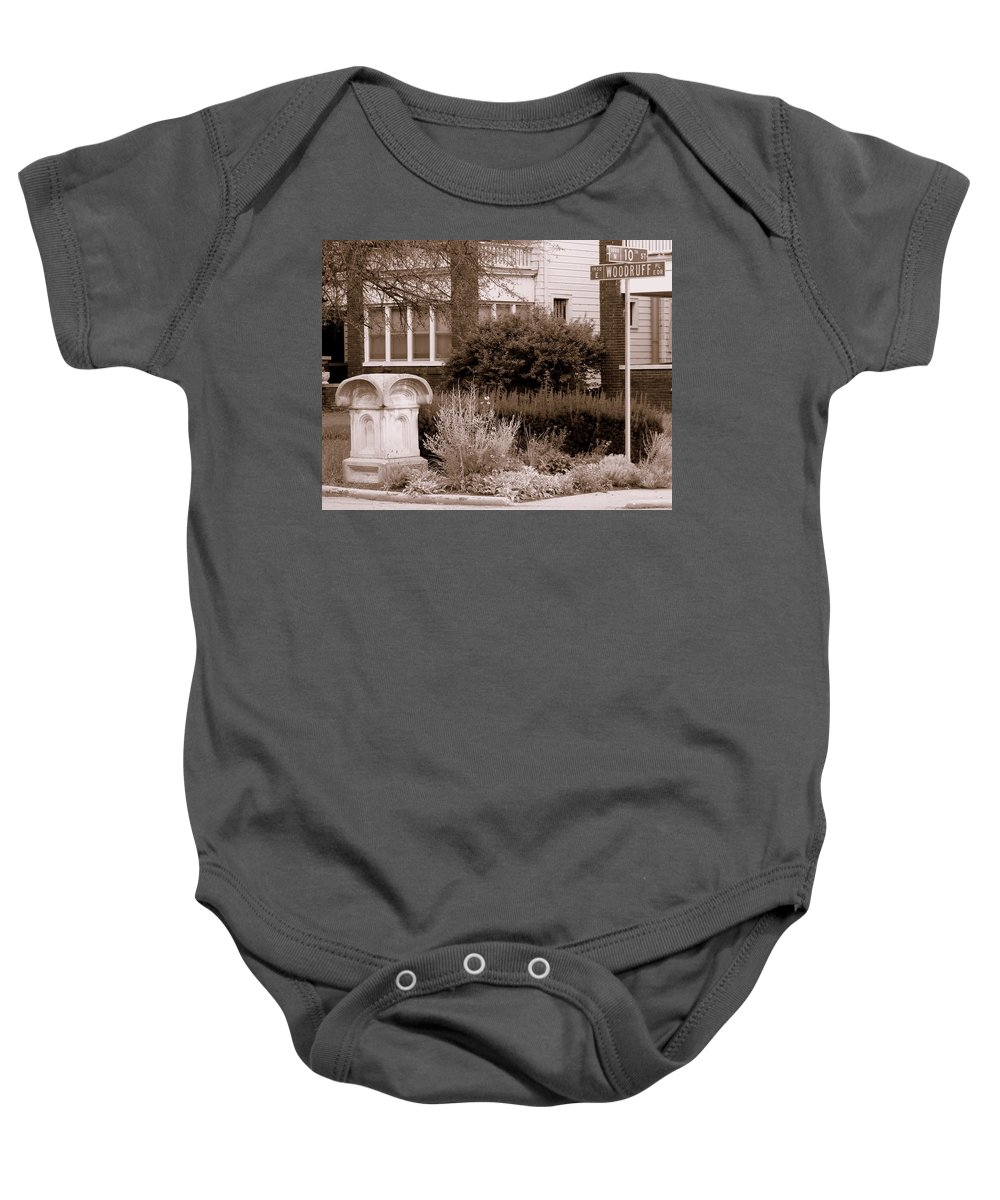 10th And Woodruff Baby Onesie featuring the photograph 10th And Woodruff by Ed Smith