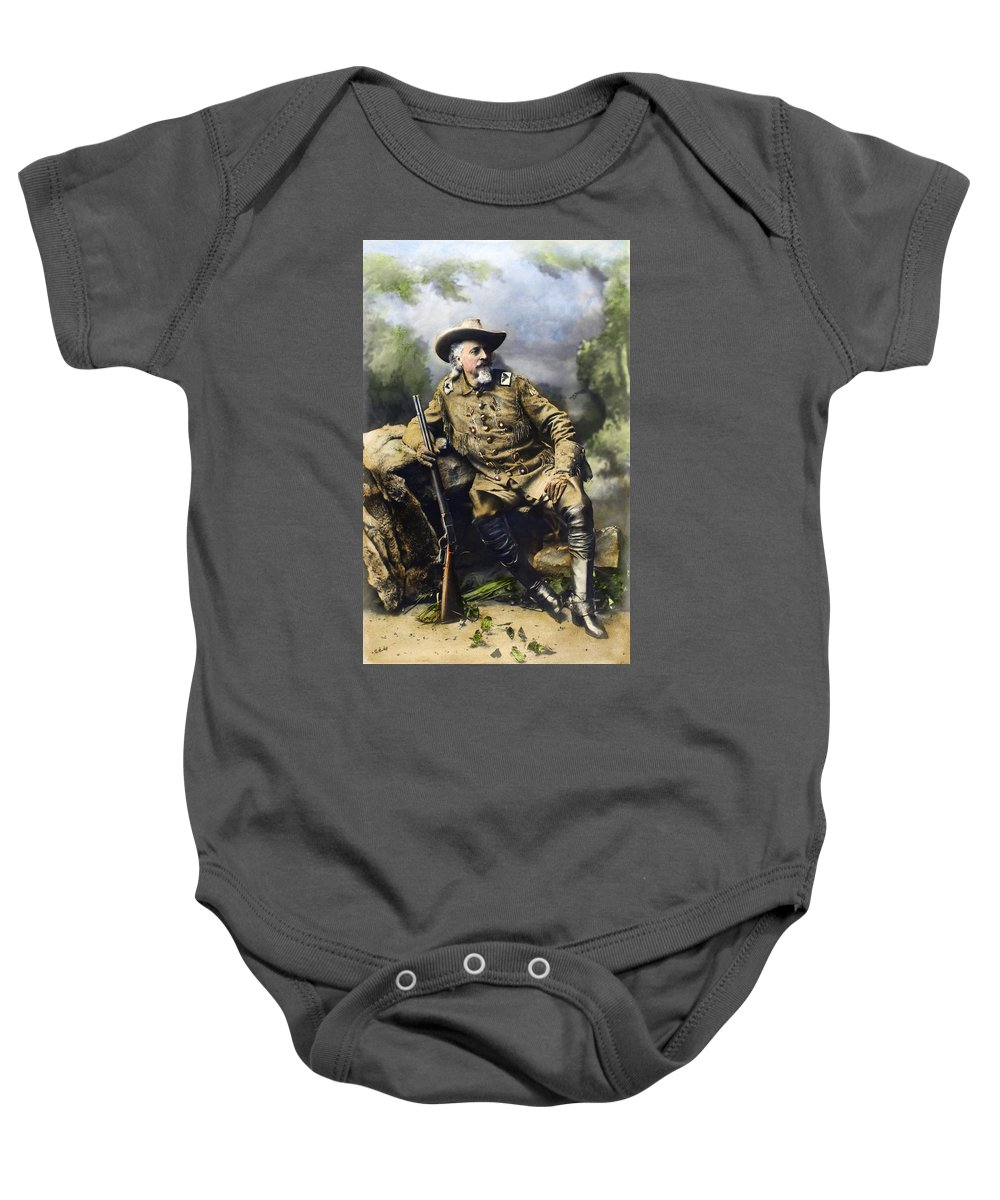 1900 Baby Onesie featuring the photograph William F. Cody (1846-1917) by Granger