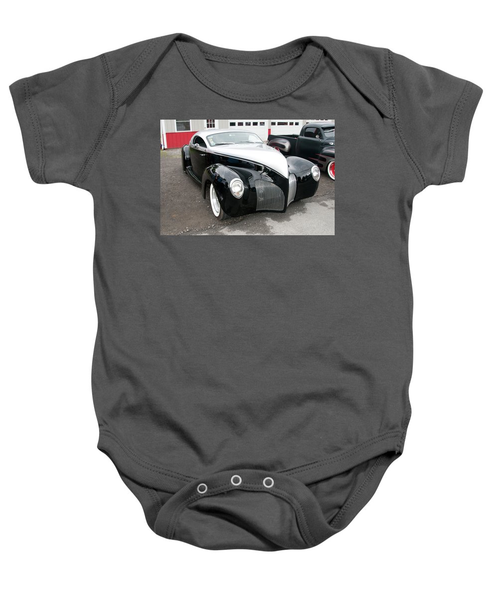 Automobile Baby Onesie featuring the photograph 1939 Lincoln Zephyr 7680 by Guy Whiteley