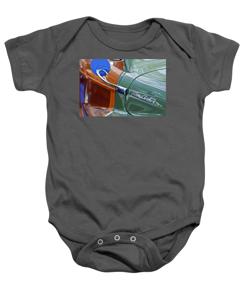1948 Chrysler Town And Country Convertible Coupe Baby Onesie featuring the photograph 1948 Chrysler Town And Country Convertible Coupe by Jill Reger
