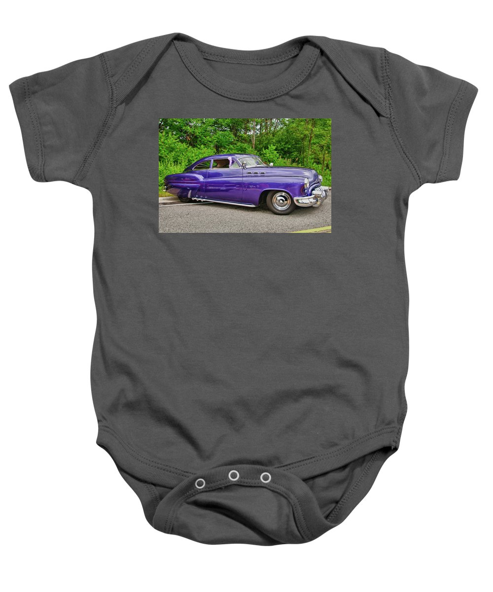 1956 Buick Lead Sled Baby Onesie featuring the photograph 1956 Buick  7767 by Guy Whiteley
