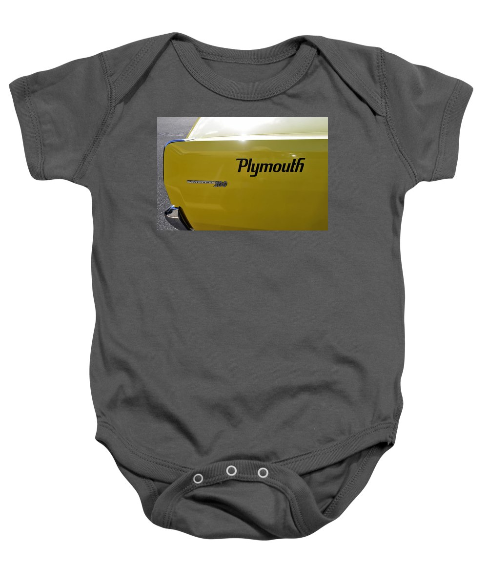 Fine Art Photography Baby Onesie featuring the photograph 1964 Plymouth Valiant by David Lee Thompson