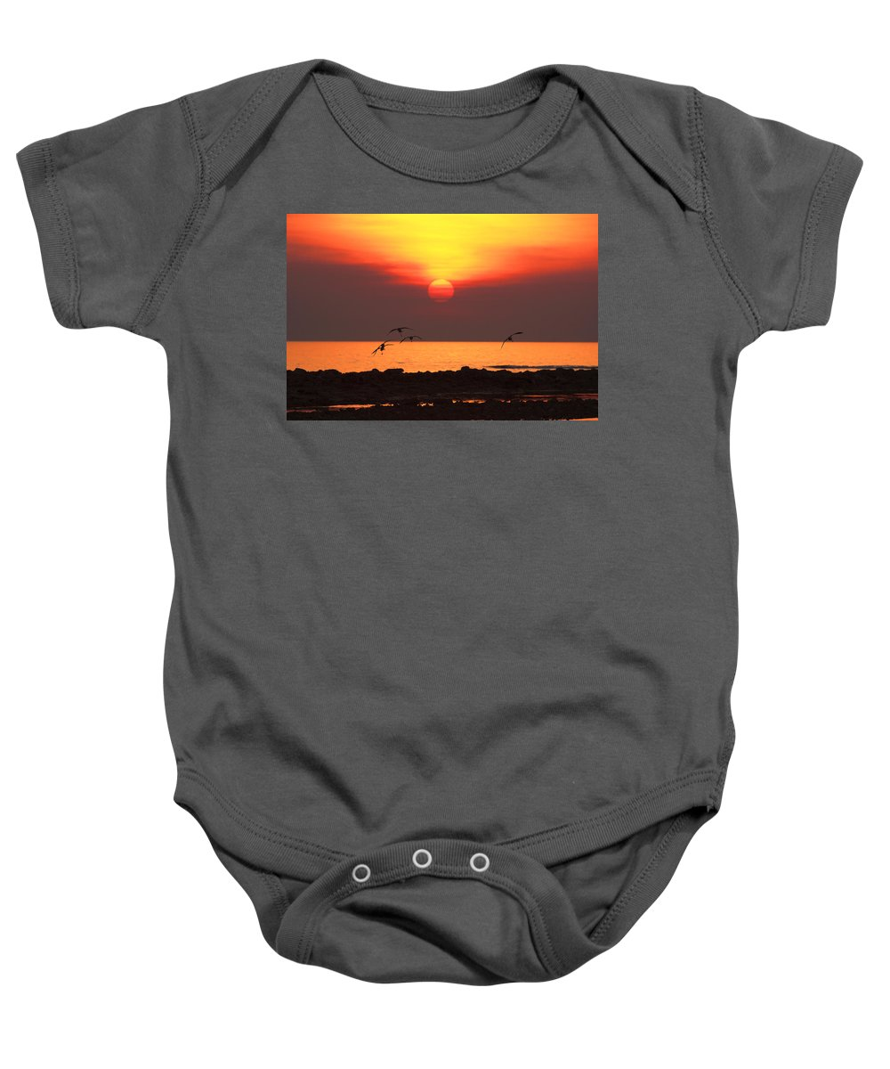 Sunset Baby Onesie featuring the photograph Late Afternoon by Douglas Barnard