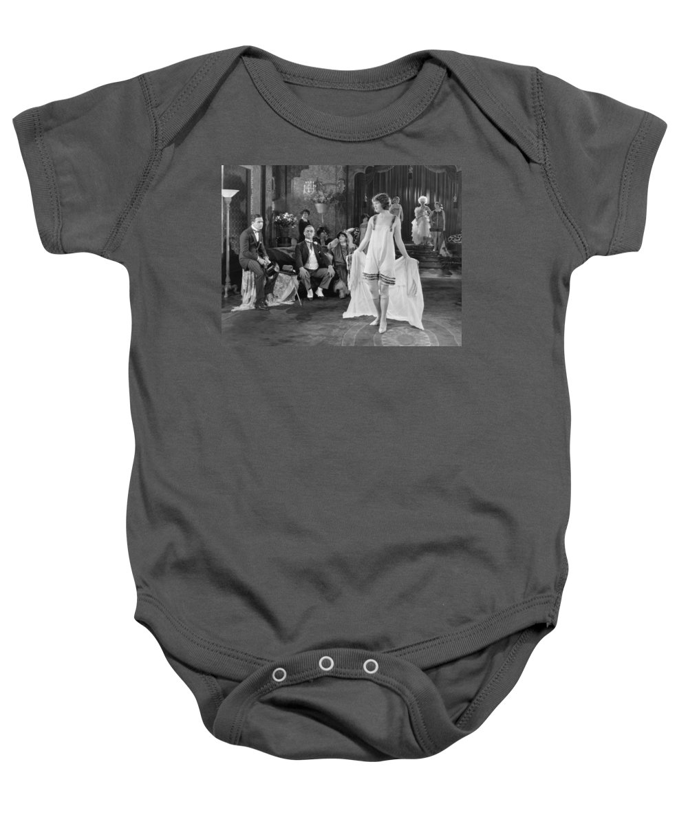 1920s Baby Onesie featuring the photograph Silent Film Still: Fashion by Granger