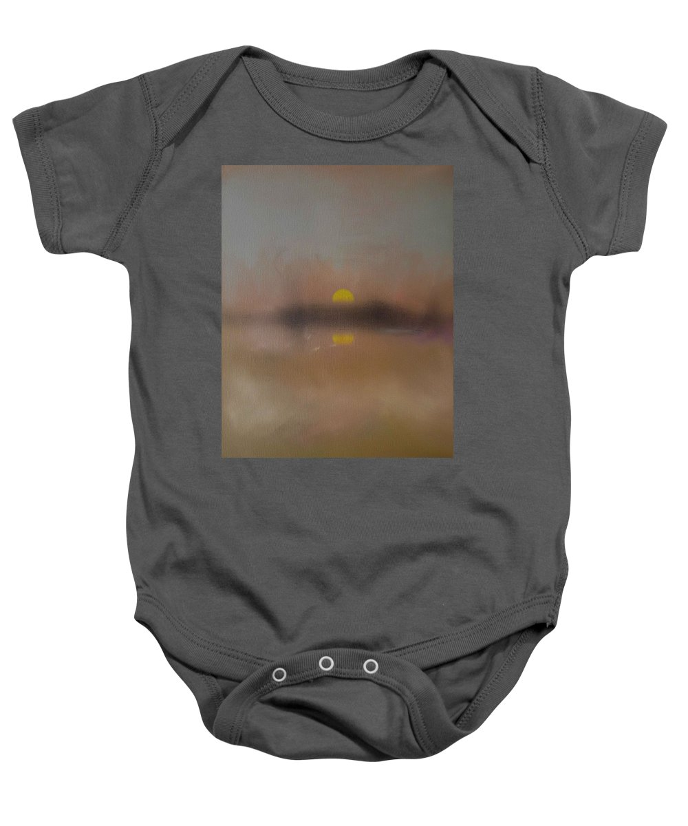 London Baby Onesie featuring the painting Sunset by Charles Stuart