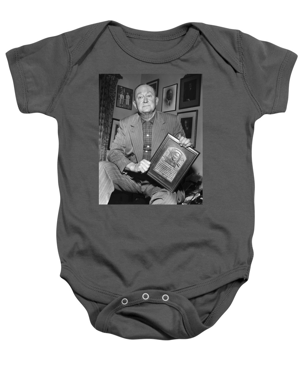 1957 Baby Onesie featuring the photograph Ty Cobb (1886-1961) by Granger