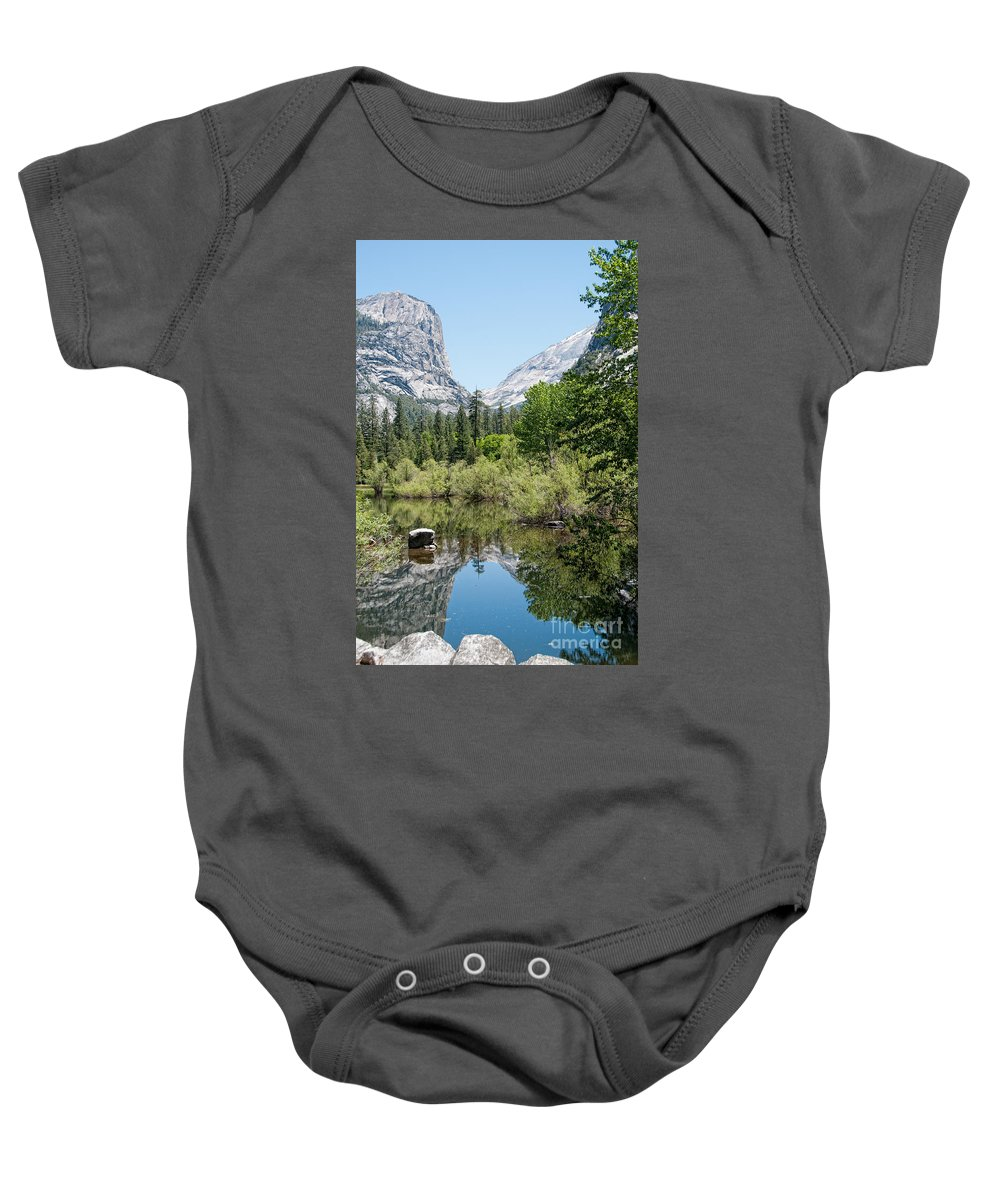 Ahwiyah Point Baby Onesie featuring the digital art Yosemite by Carol Ailles