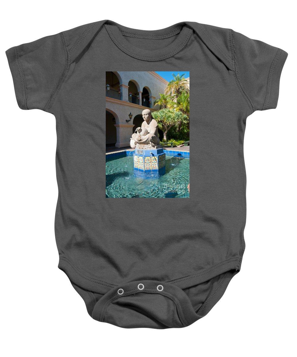 Balboa Park Baby Onesie featuring the digital art Balboa Park San Diego by Carol Ailles