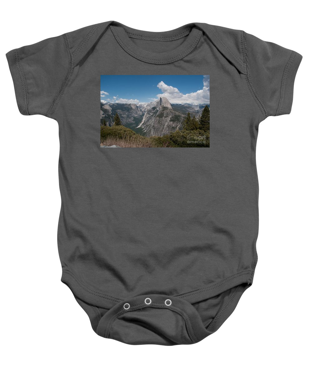 California Baby Onesie featuring the digital art Yosemite by Carol Ailles