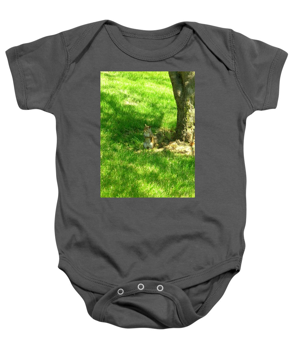 Squirrel Baby Onesie featuring the photograph 5368c by Kimberlie Gerner