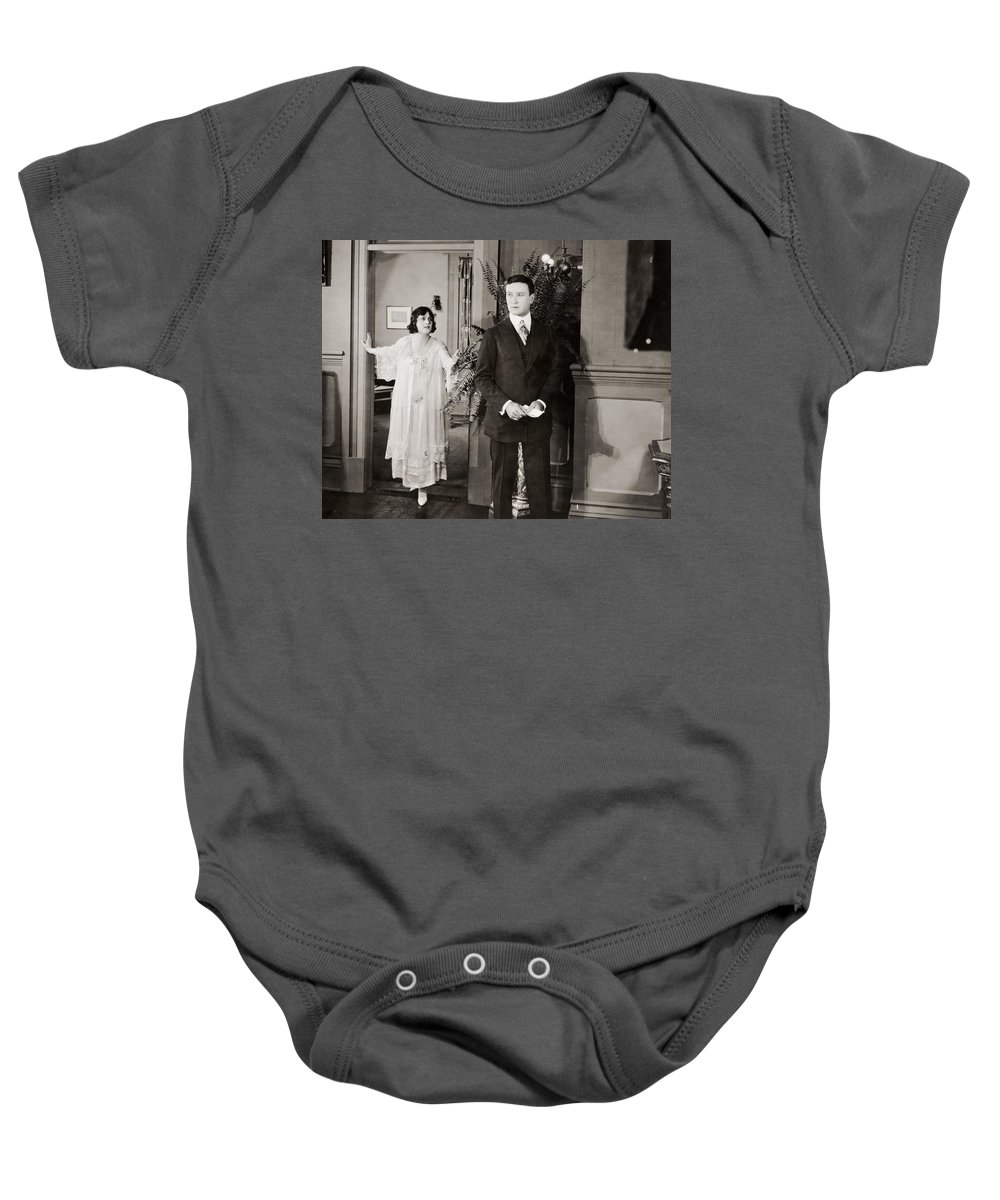 -couples- Baby Onesie featuring the photograph Silent Film Still: Couples by Granger