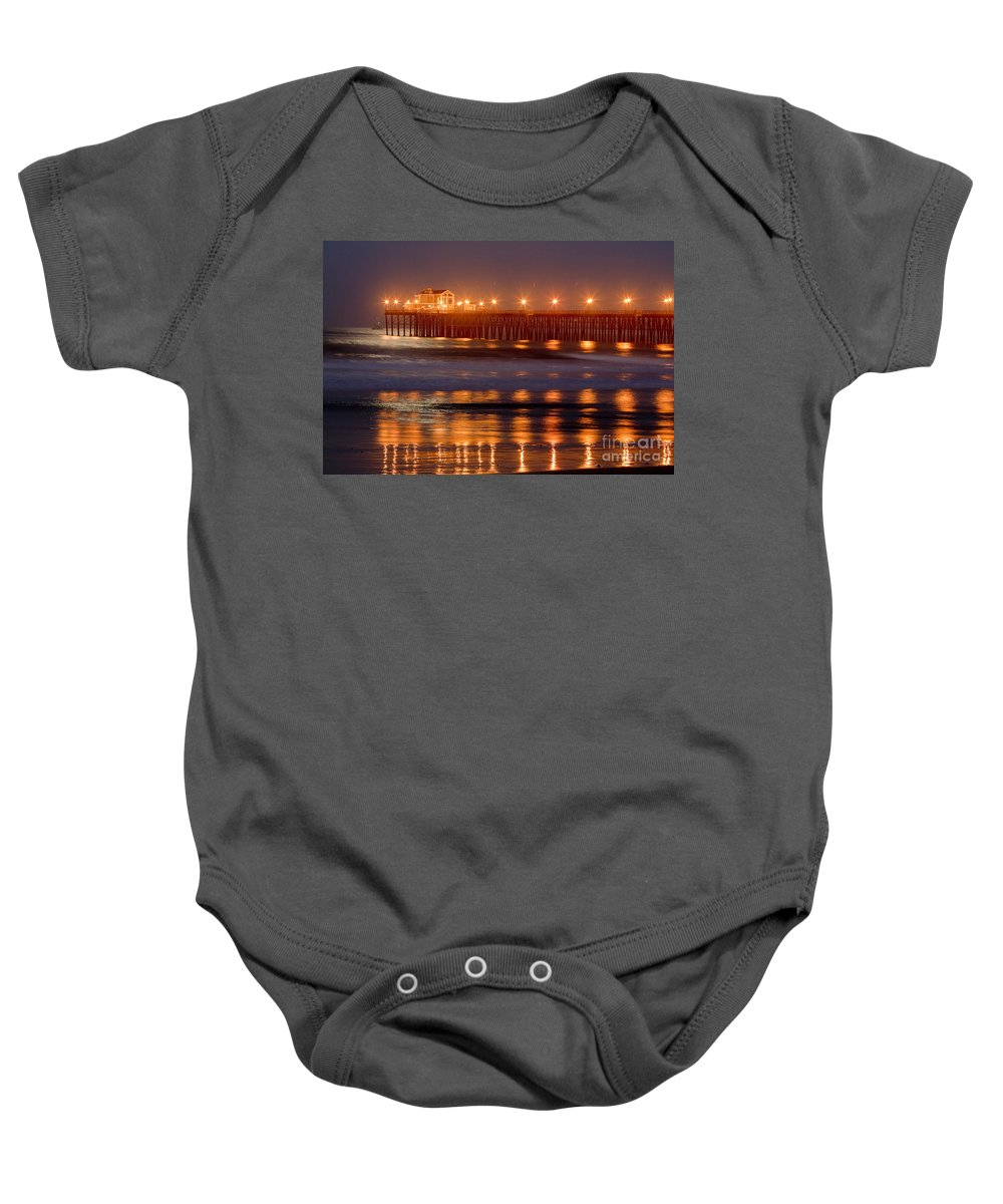 Oceanside Baby Onesie featuring the photograph 8034 by Daniel Knighton