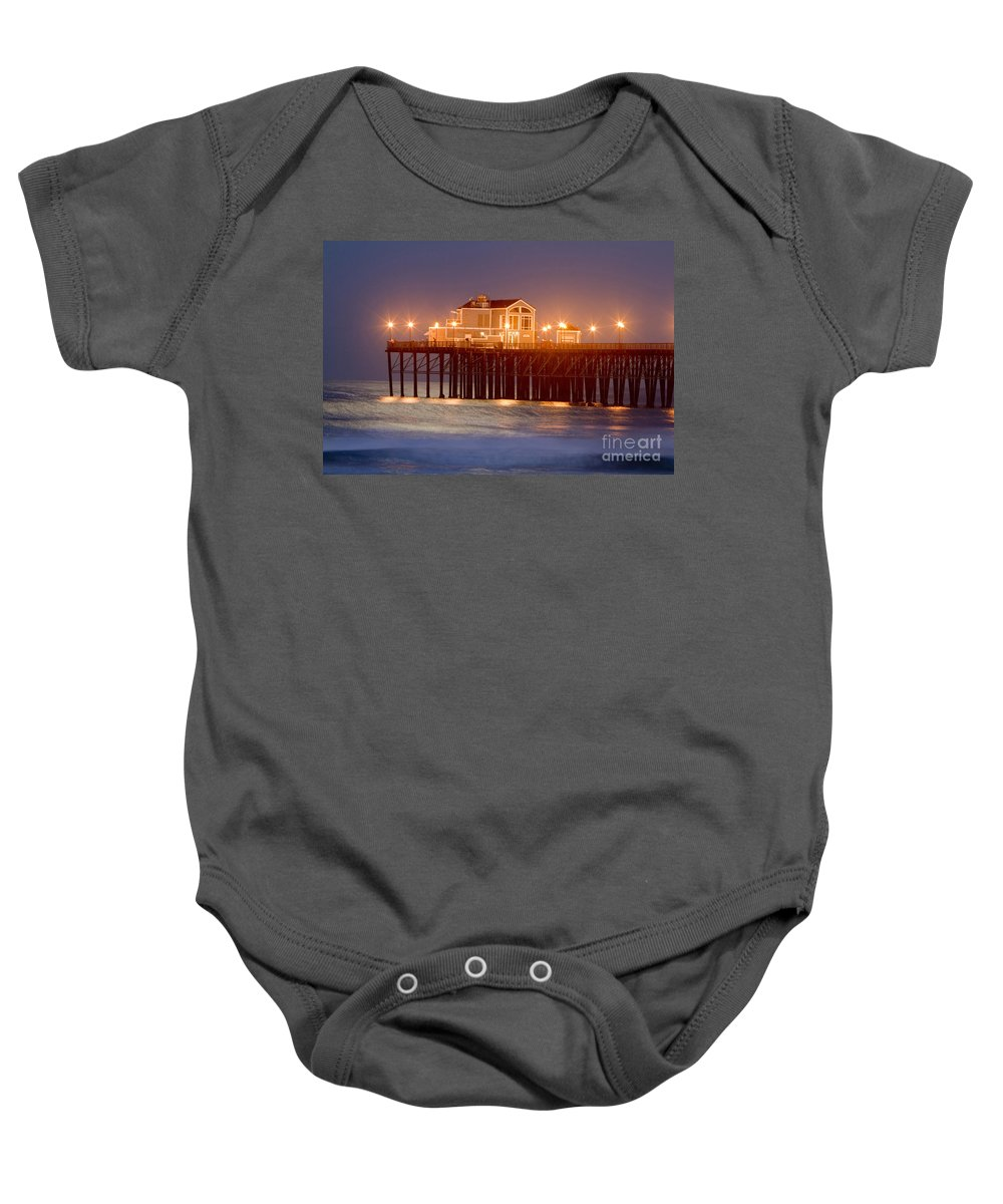 Oceanside Baby Onesie featuring the photograph 8037 by Daniel Knighton