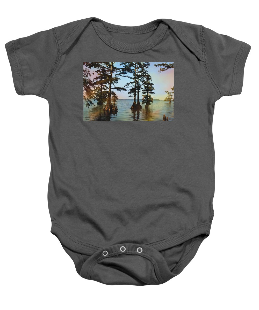 Reelfoot Lake Baby Onesie featuring the photograph Reelfoot Lake by Bonnie Willis