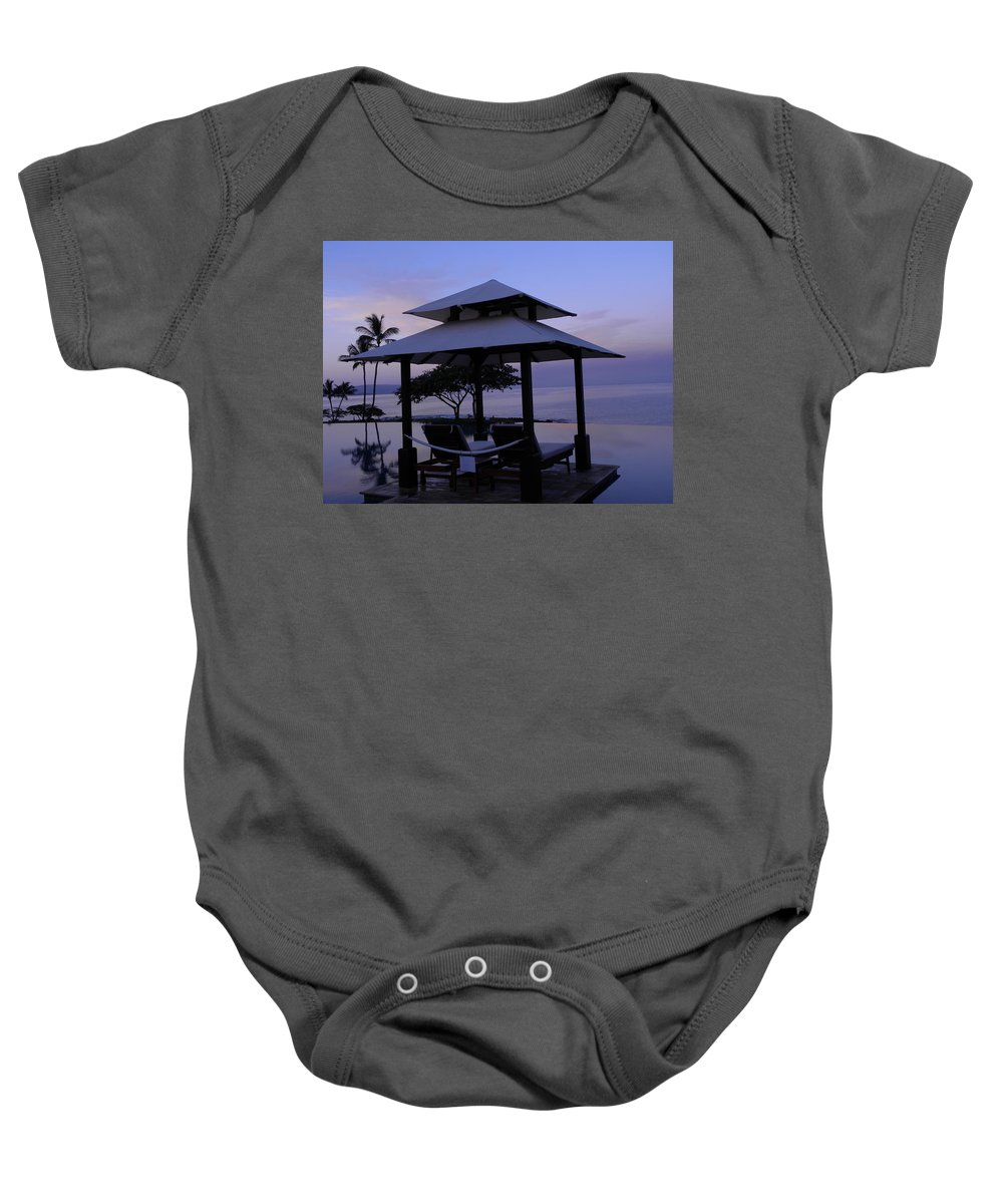 Sunrise Baby Onesie featuring the photograph A New Day by Peggy McDonald