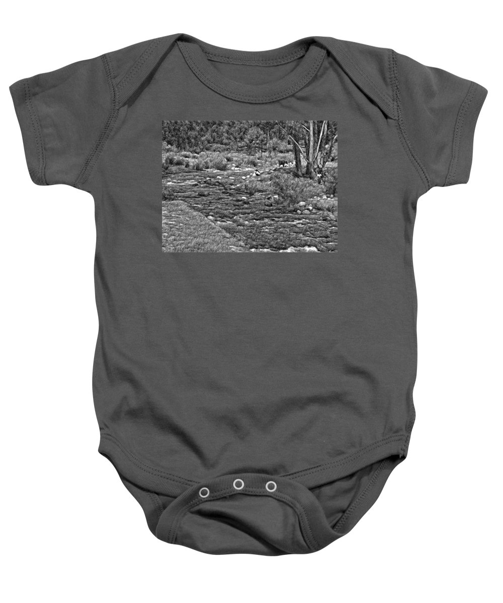 Peru Baby Onesie featuring the photograph A Place Without Time Sketch 2 by Steve Harrington