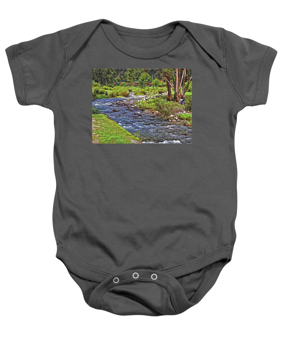 Peru Baby Onesie featuring the photograph A Place Without Time Sketch by Steve Harrington