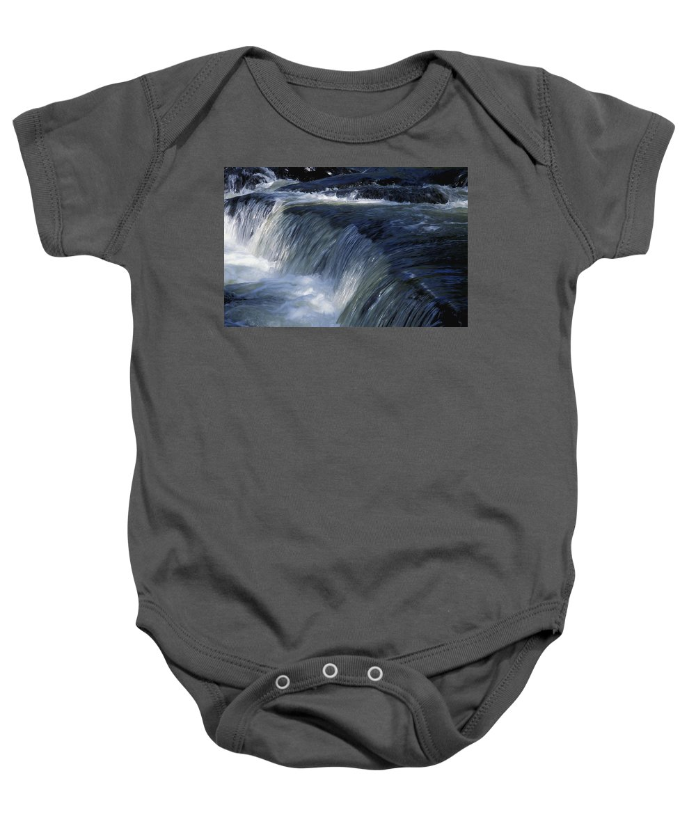 Cold Baby Onesie featuring the photograph A Small Waterfall by David Chapman