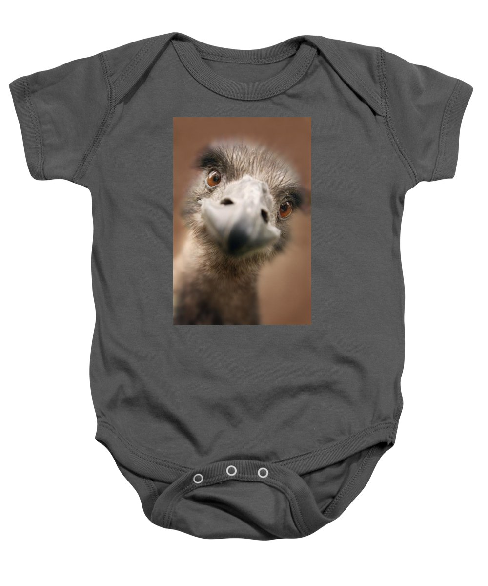 Outdoors Baby Onesie featuring the photograph A Strange Look by Don Hammond