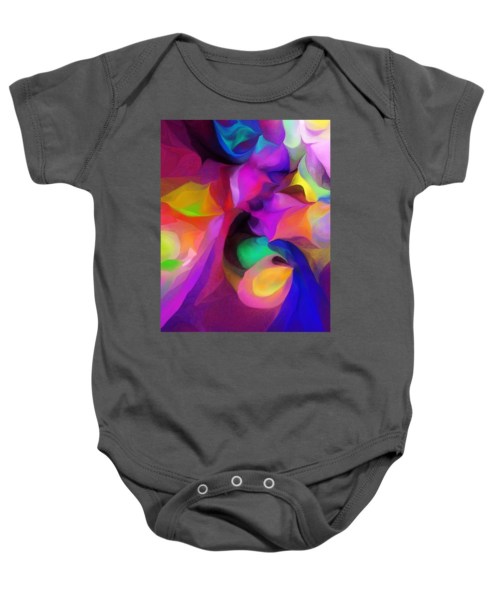 Fine Art Baby Onesie featuring the digital art Abstract 041412 by David Lane