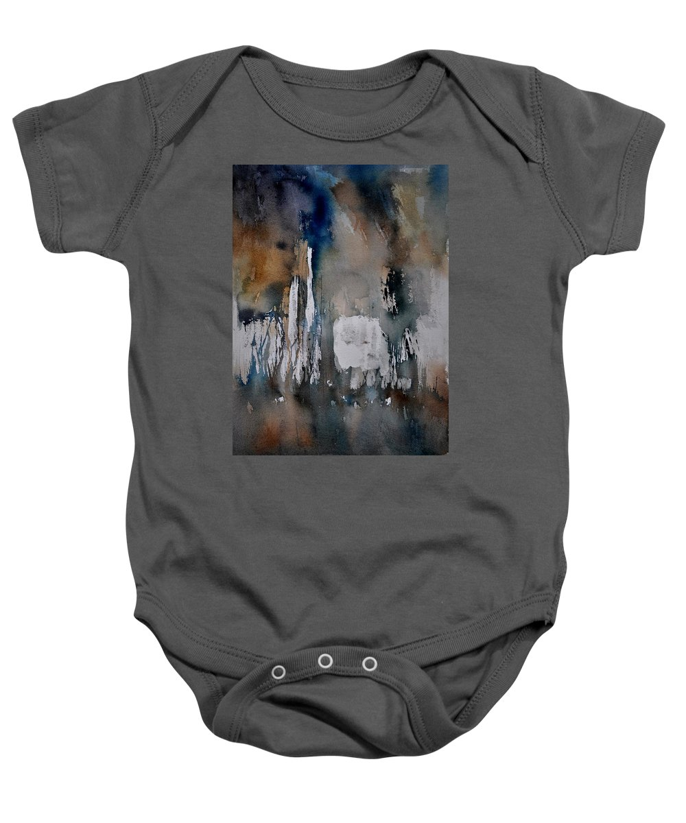 Abstract Baby Onesie featuring the painting Abstract 213030 by Pol Ledent