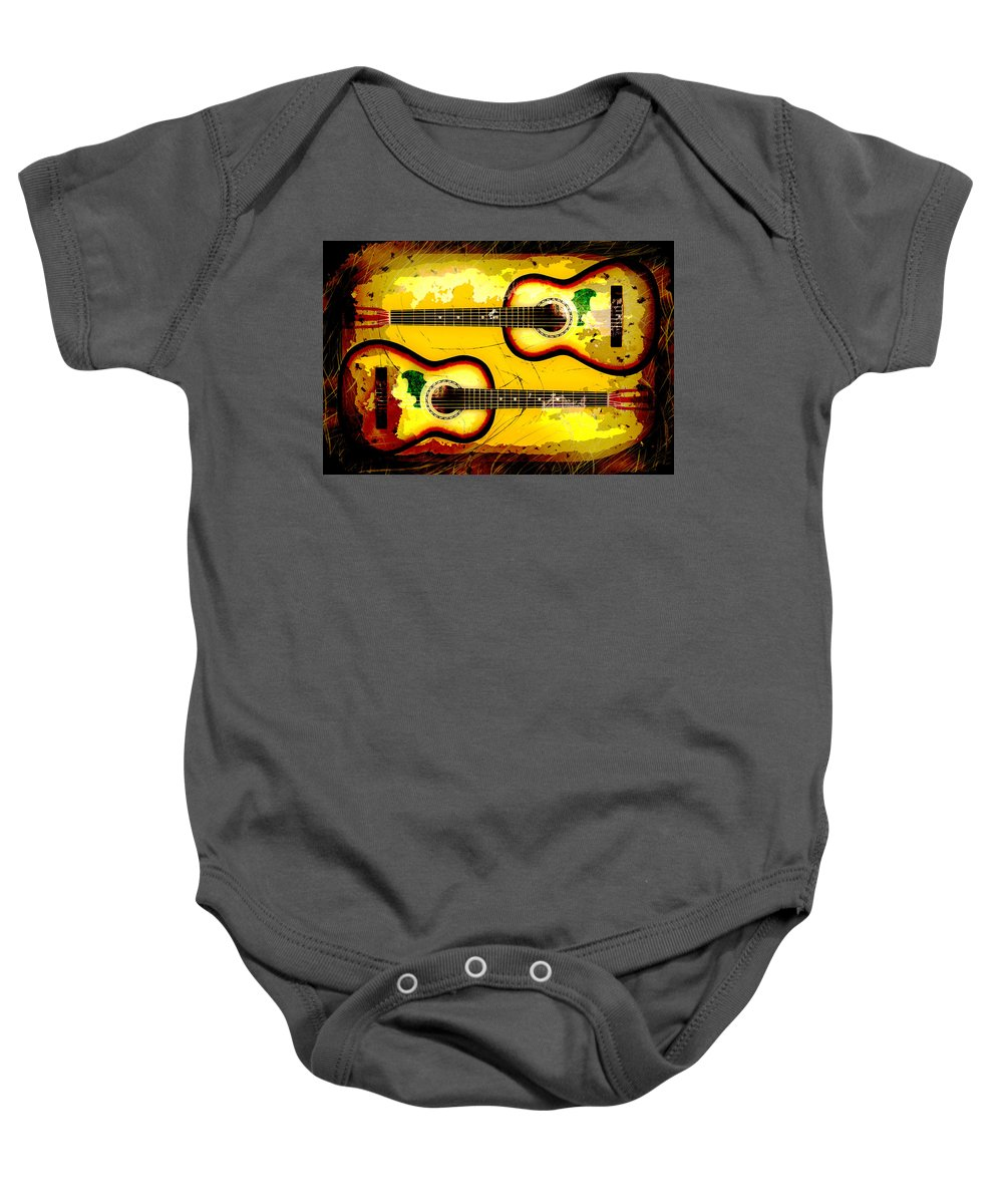Acoustic Baby Onesie featuring the photograph Abstract Acoustic by David G Paul