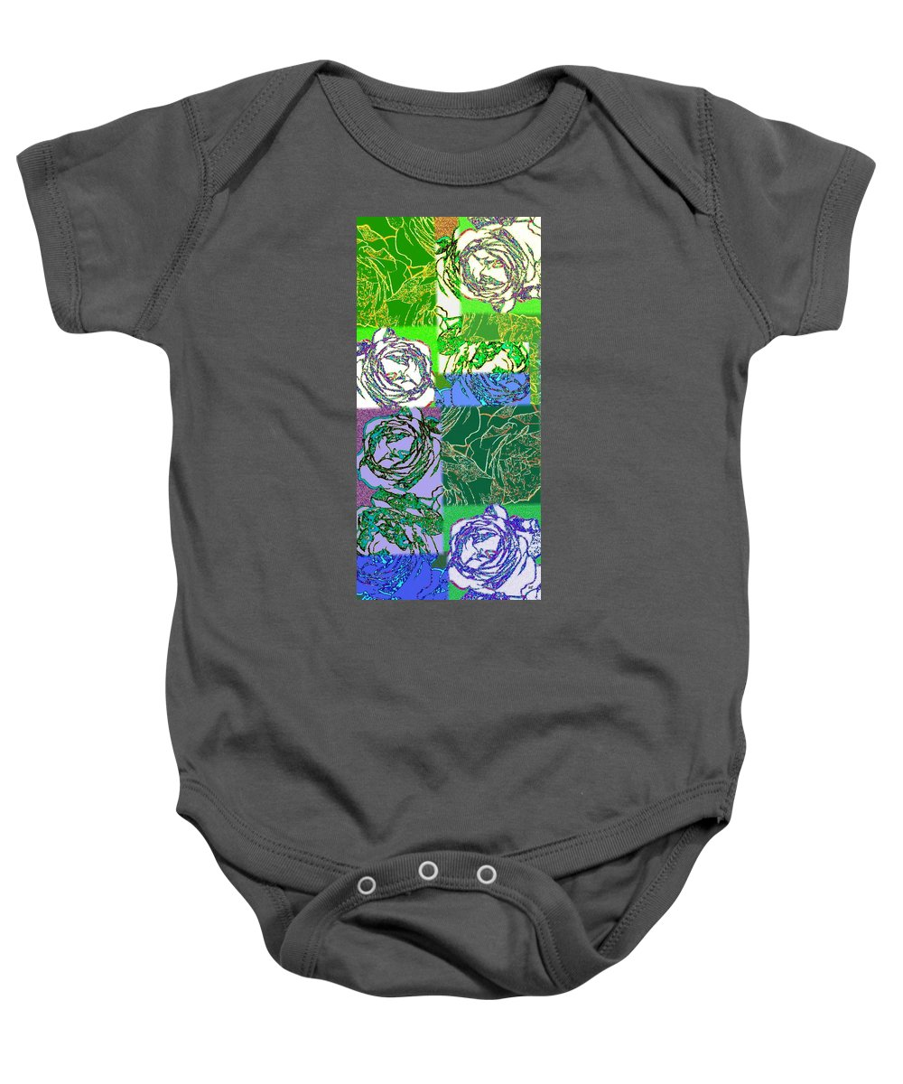 Abstract Fusion Baby Onesie featuring the digital art Abstract Fusion 42 by Will Borden