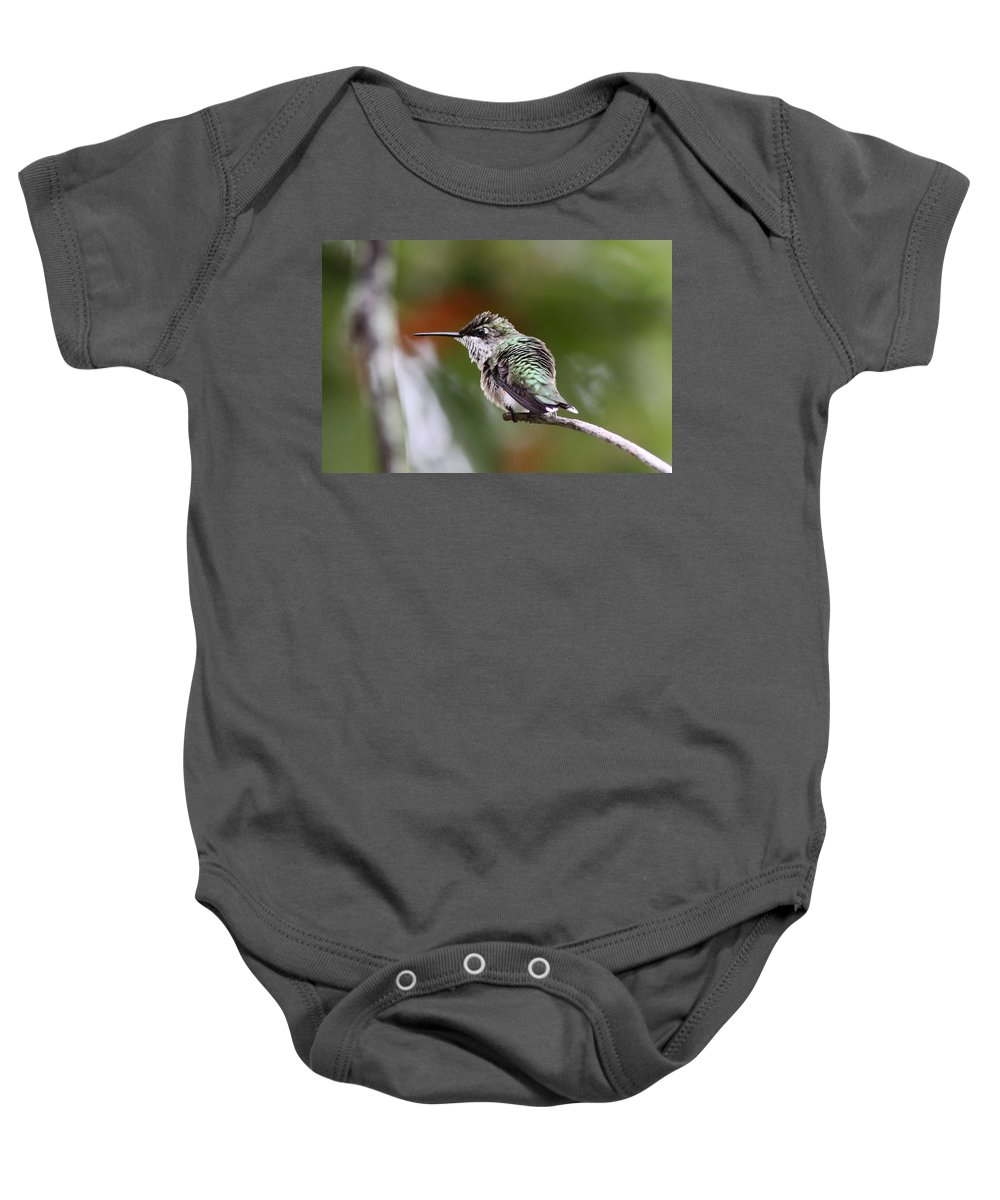 Hummingbird Baby Onesie featuring the photograph Action Time by Travis Truelove