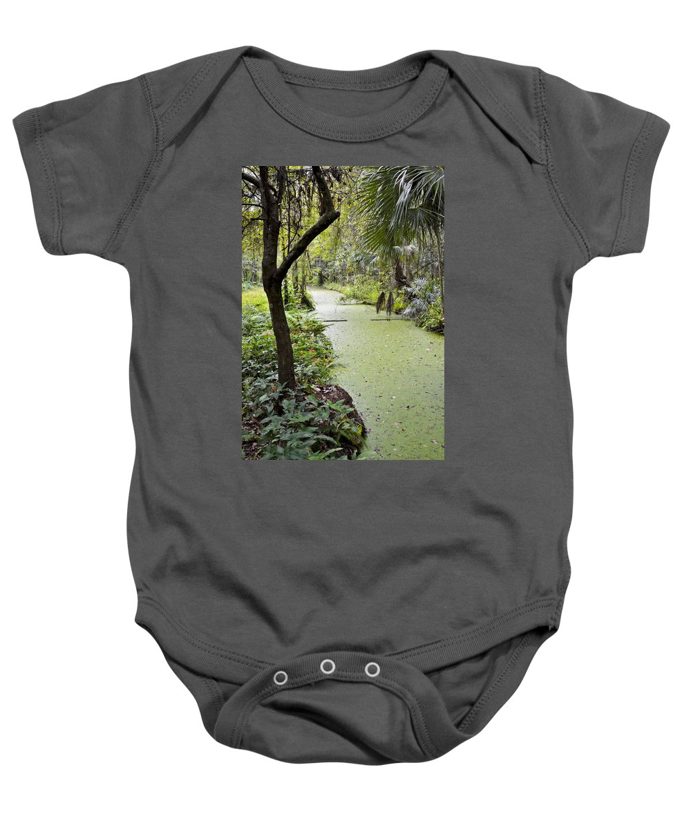 Botanical Baby Onesie featuring the photograph Along The Stream by Carolyn Marshall