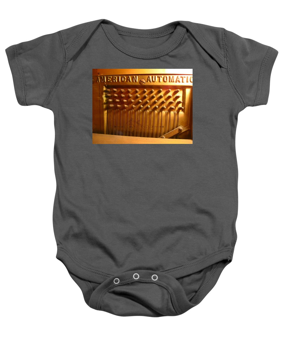 American Automatic Baby Onesie featuring the photograph American Gold Automatic by Kym Backland