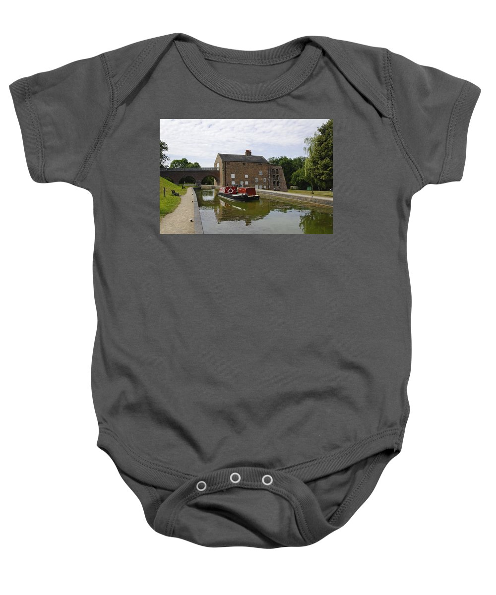 Water Baby Onesie featuring the photograph Ashby Canal At Moira Furnace by Rod Johnson