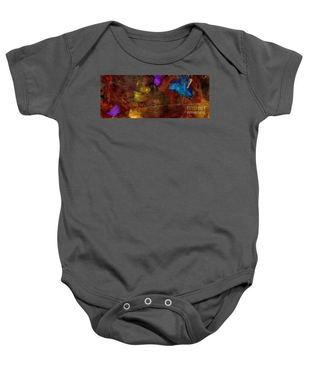 Acrylic Baby Onesie featuring the painting Asian Gardens IIi by Angela L Walker