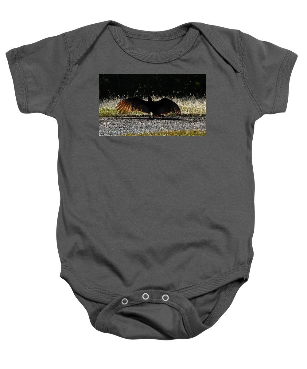 Bird Baby Onesie featuring the photograph At The End Of Lifes Road by David Lee Thompson