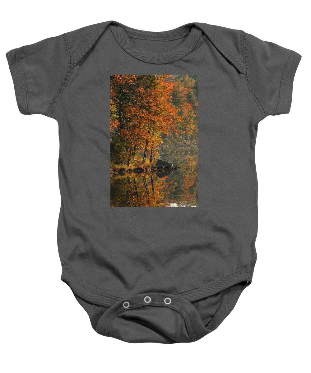 Outdoors Baby Onesie featuring the photograph Autumn Scenic by Alan Marsh