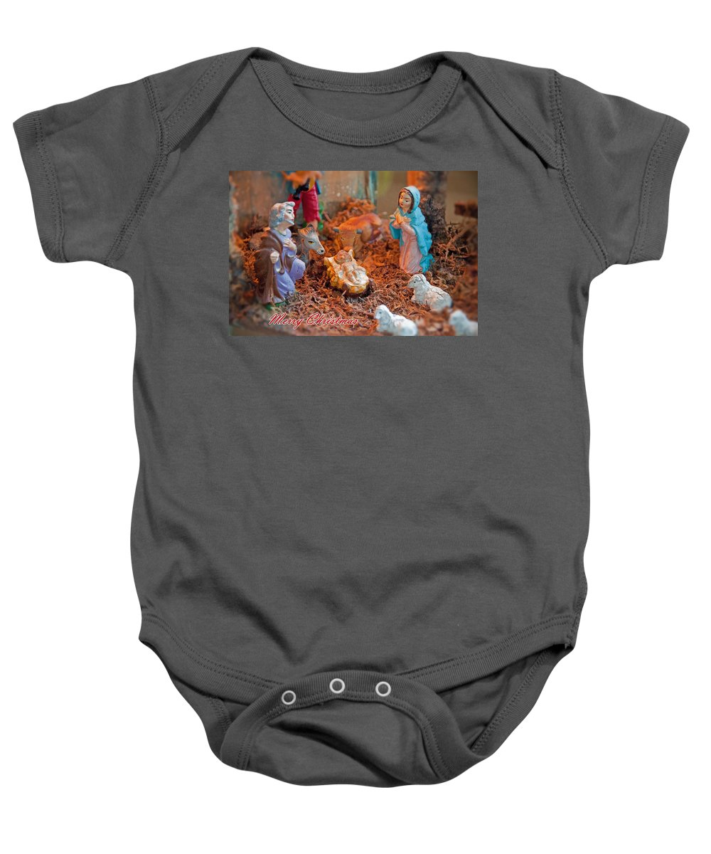 Jesus Baby Onesie featuring the photograph Baby Jesus by David Arment