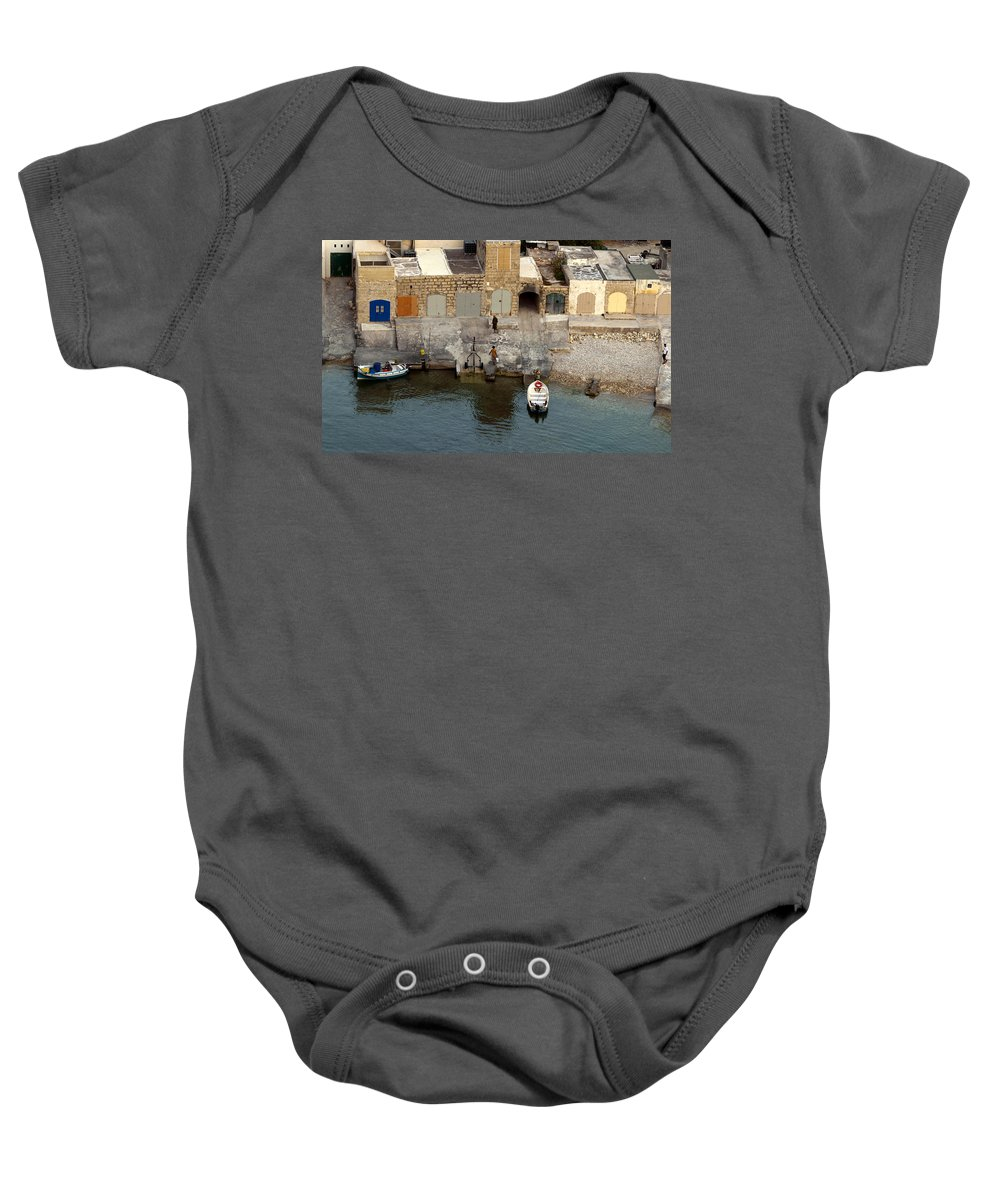 Boat Baby Onesie featuring the photograph Back Home With The Catch by Focus Fotos