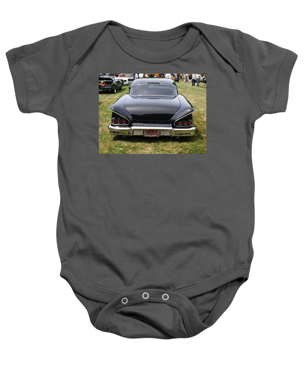 Black Baby Onesie featuring the photograph Backside Of An Impala by Teri Schuster