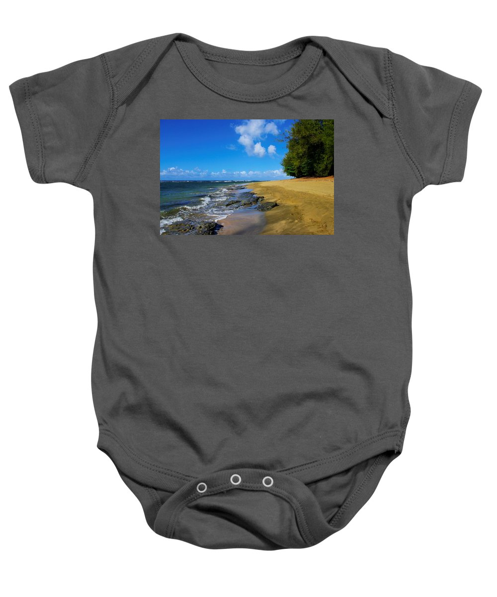 Beach Baby Onesie featuring the photograph Beautiful Kee Beach by John Greaves