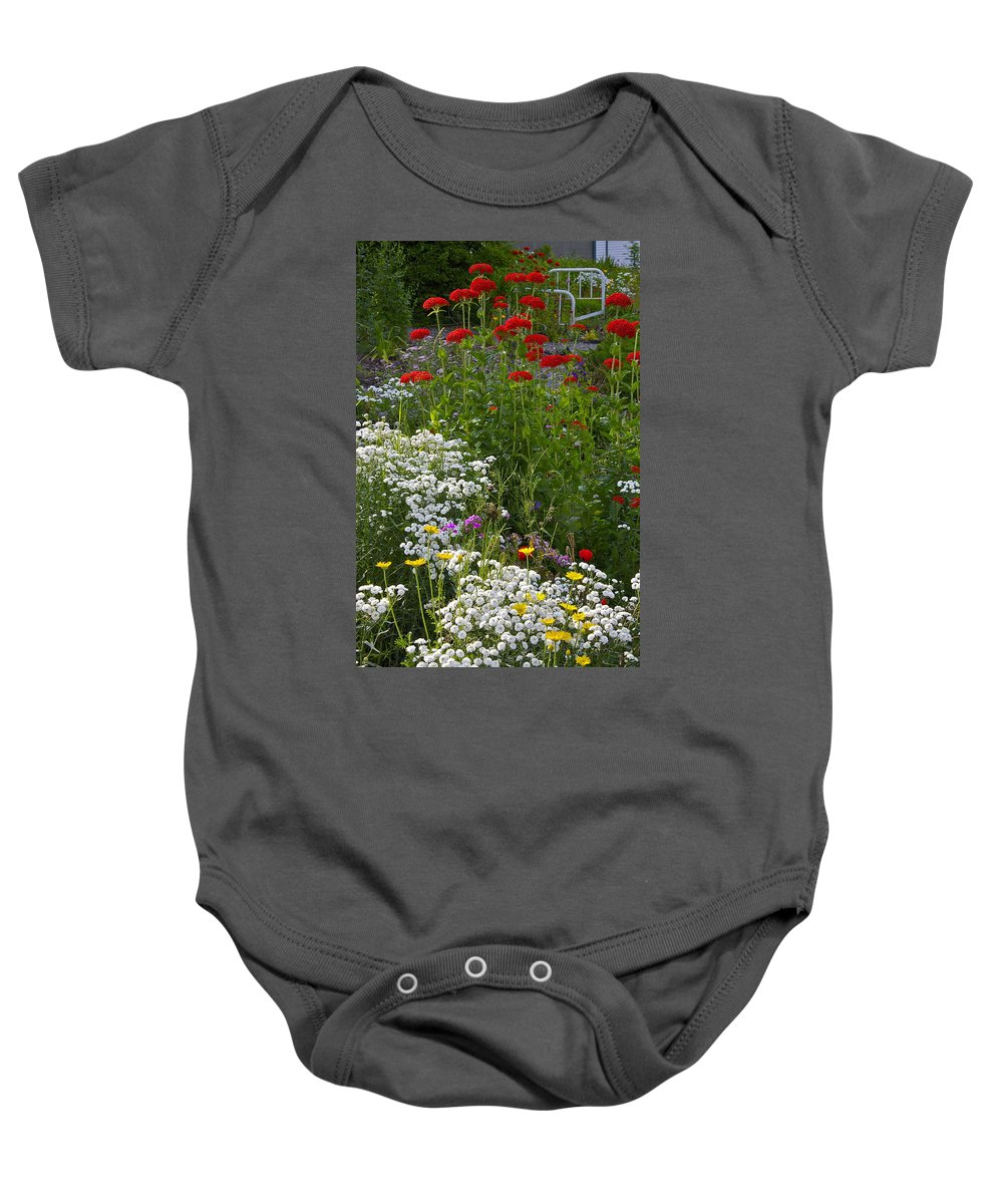 Hospital Bed Baby Onesie featuring the photograph Bed Of Flowers by Johanna Bruwer