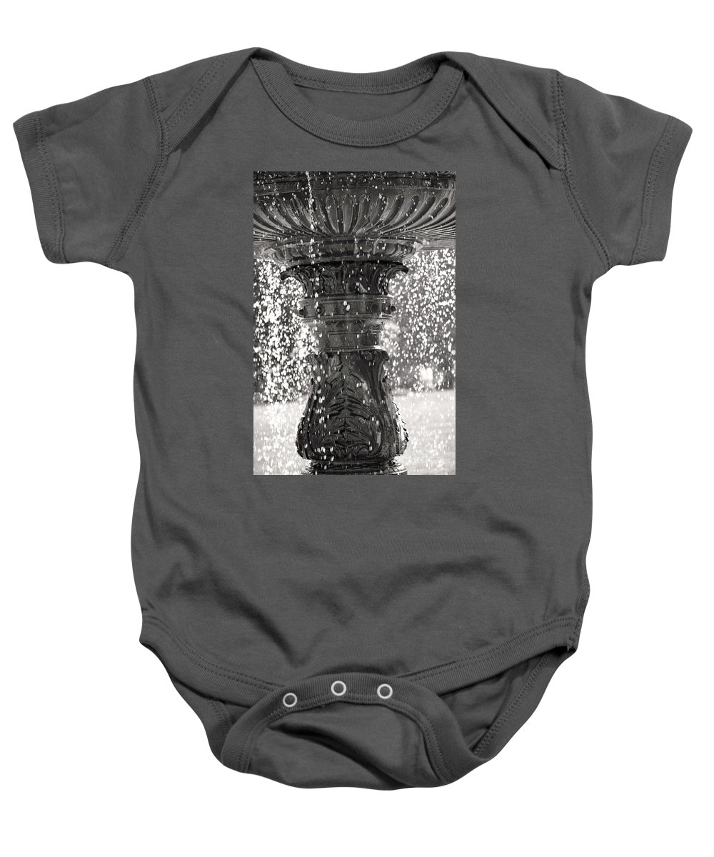 British Columbia Baby Onesie featuring the photograph Bird Fountain Of Tears by Traci Cottingham