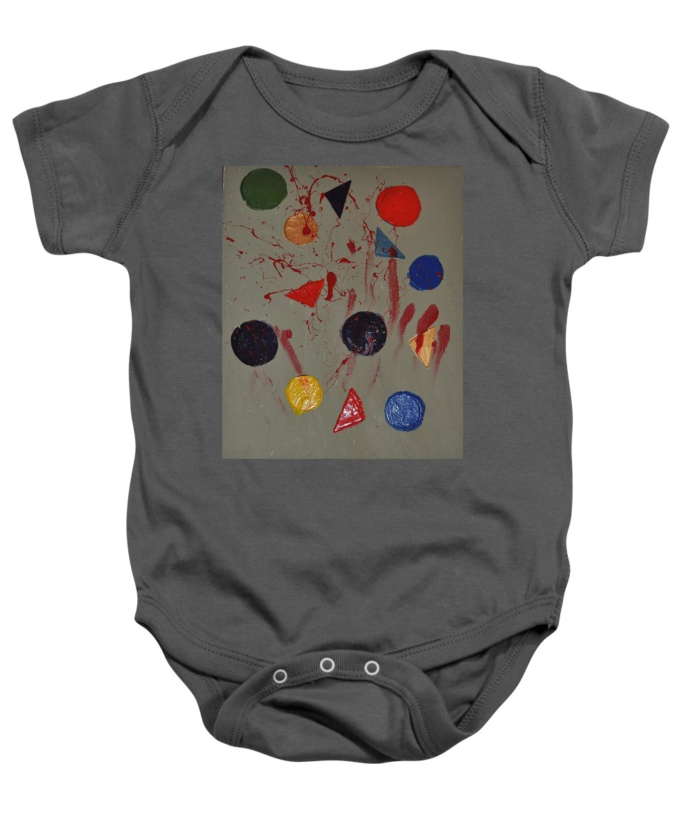 Painting Baby Onesie featuring the painting Bloody Colorforms by Catherine Conroy