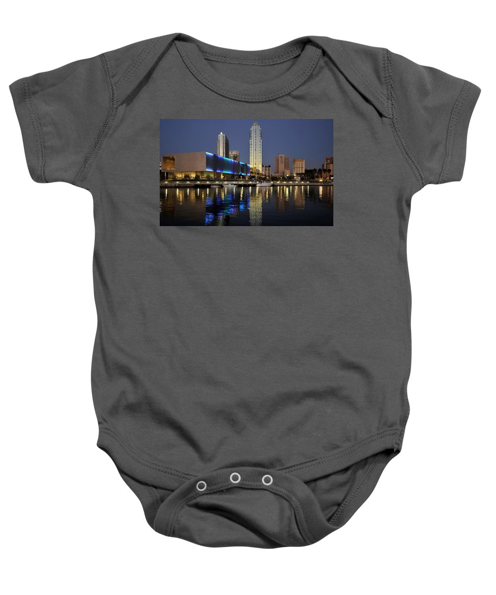Fine Art Photography Baby Onesie featuring the photograph Boats On The Hillsborough by David Lee Thompson