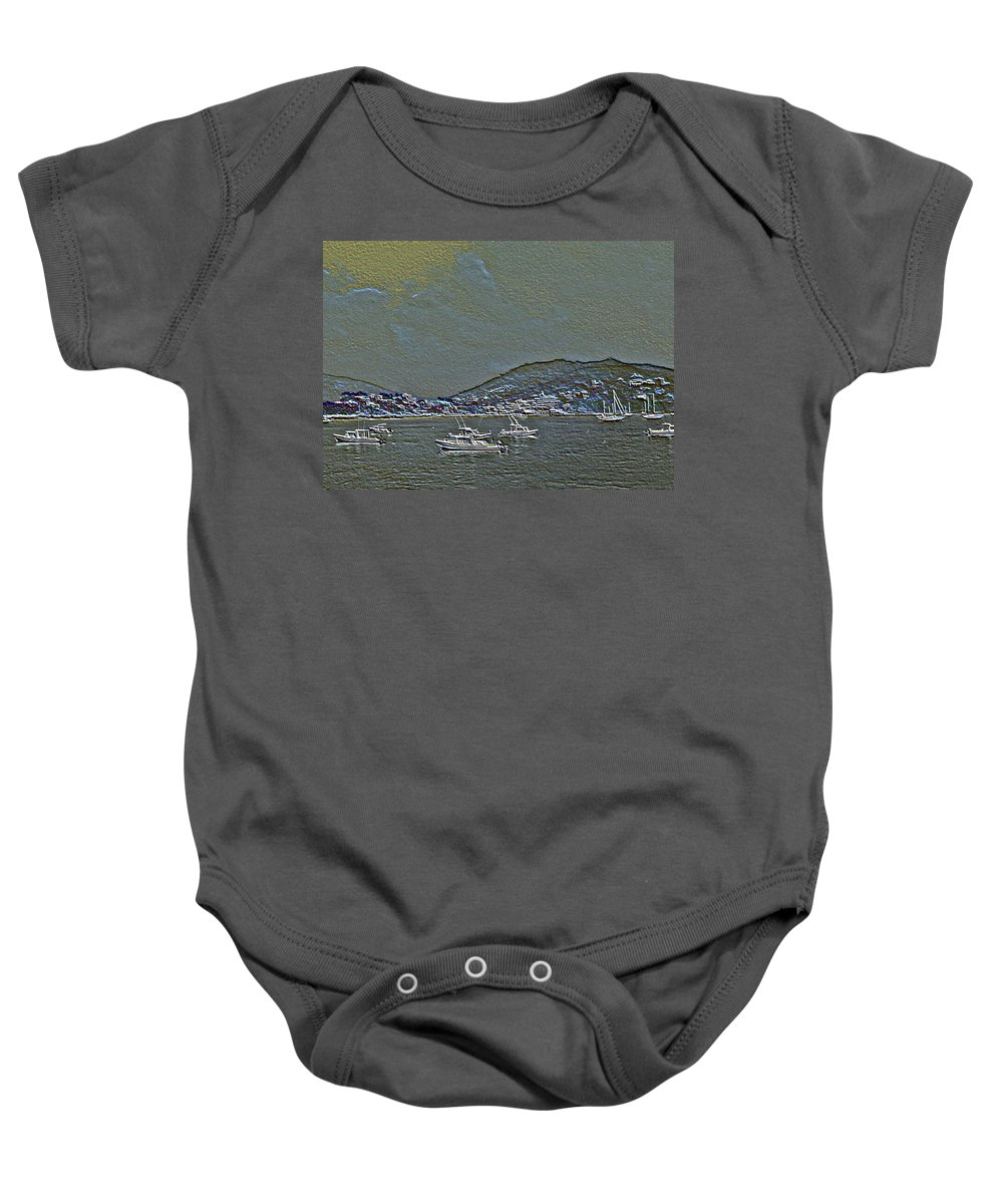 Boats Baby Onesie featuring the photograph Boats by Pamela Cooper