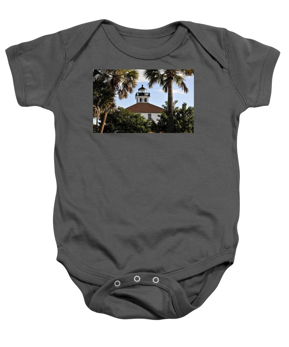Fine Art Photography Baby Onesie featuring the photograph Boca House Of Lights by David Lee Thompson
