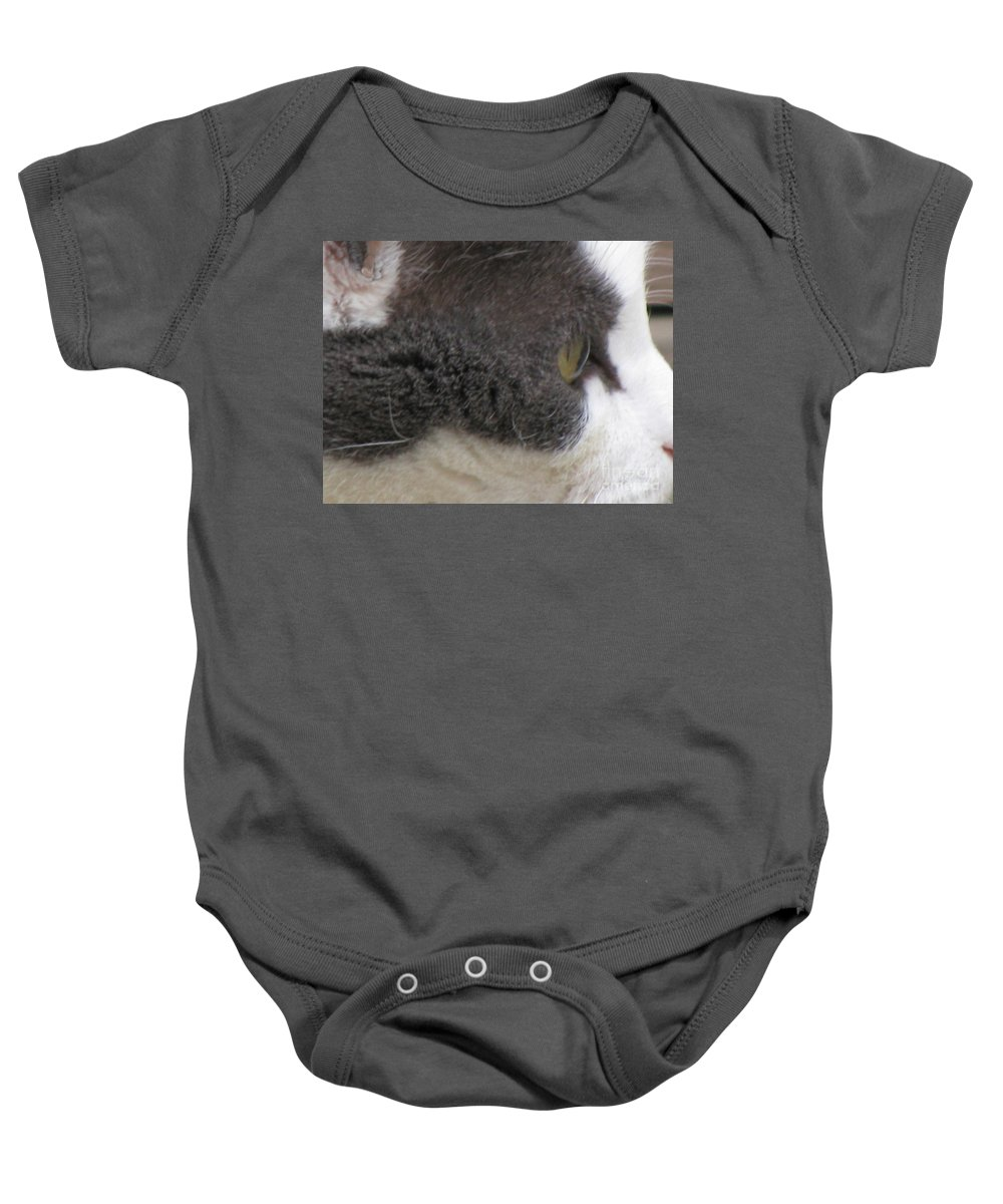 Animal Baby Onesie featuring the photograph Boojer's Eye by Donna Brown