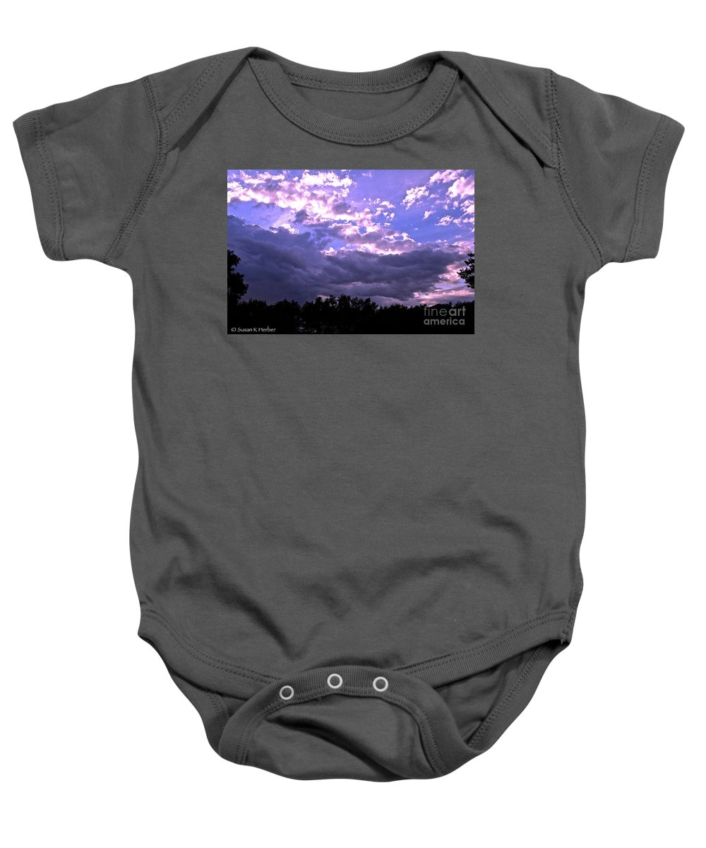 Outdoors Baby Onesie featuring the photograph Breaking Up by Susan Herber